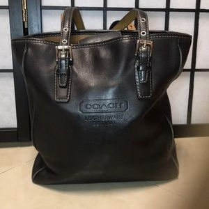 Authentic leather Coach shopper